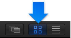 Icon view button in the Library