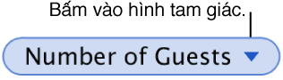 Bấm vào mũi tên để chọn Bảo lưu Hàng hoặc Bảo lưu Cột