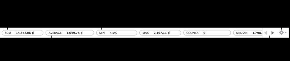 Kéo để sắp xếp lại vị trí các hàm, kéo phép tính vào ô bảng để thêm phép tính đó hoặc bấm vào menu để thay đổi các hàm được hiển thị
