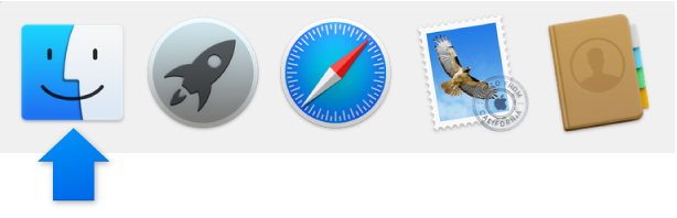 Finder icon in Dock