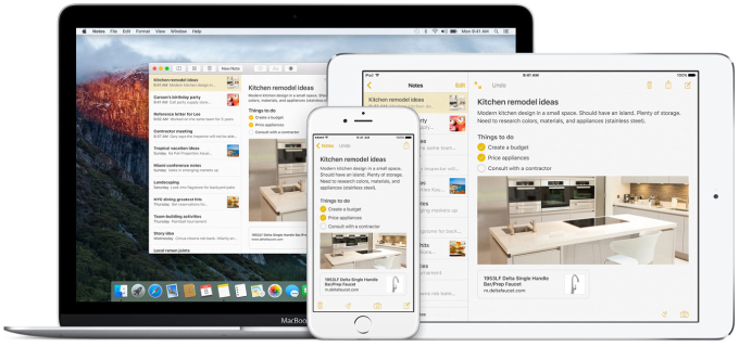 iCloud wirelessly updating content on Mac, iPhone, and iPad