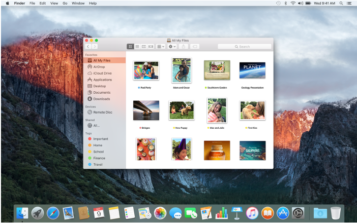 A Finder window on the desktop