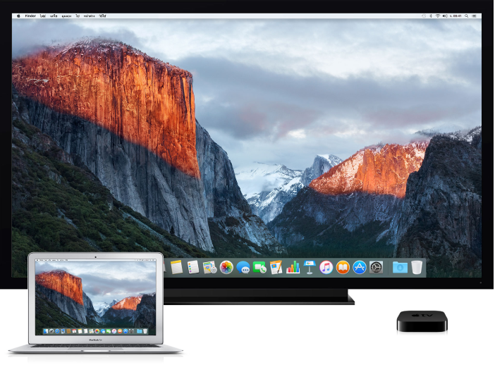 คอมพิวเตอร์ Mac, HDTV และการตั้งค่า Apple TV