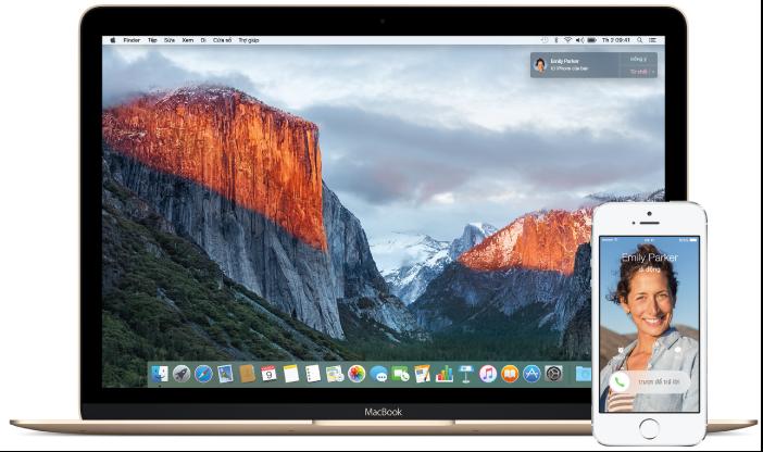 Gọi điện trên máy Mac và iPhone
