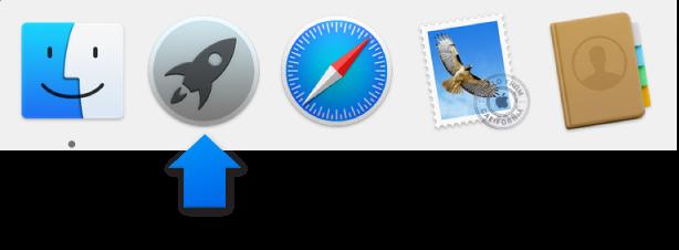 Biểu tượng Launchpad trong Dock