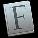 Biểu tượng Sổ quản lý Phông chữ