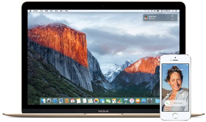 Mac 和 iPhone 上的电话呼叫