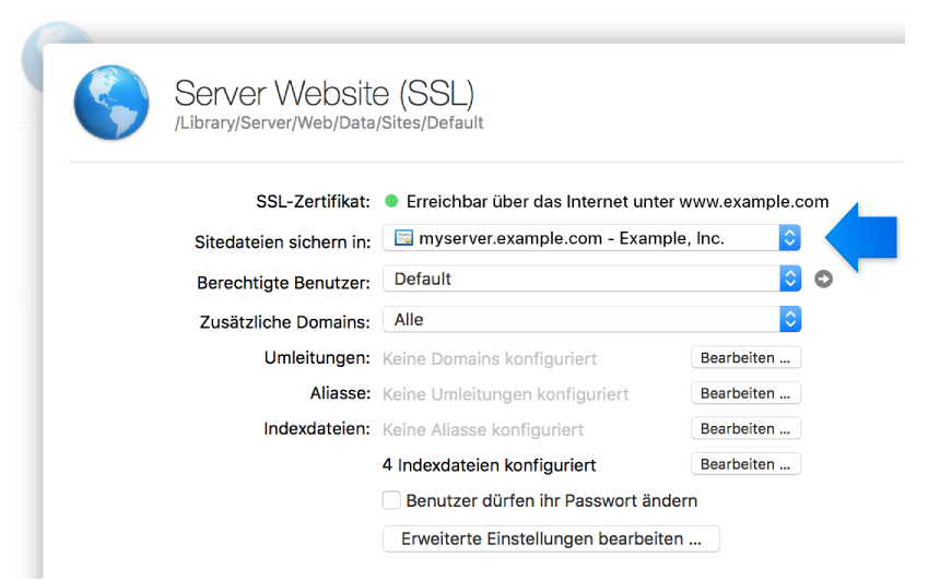 SSL-Website-Einstellungen