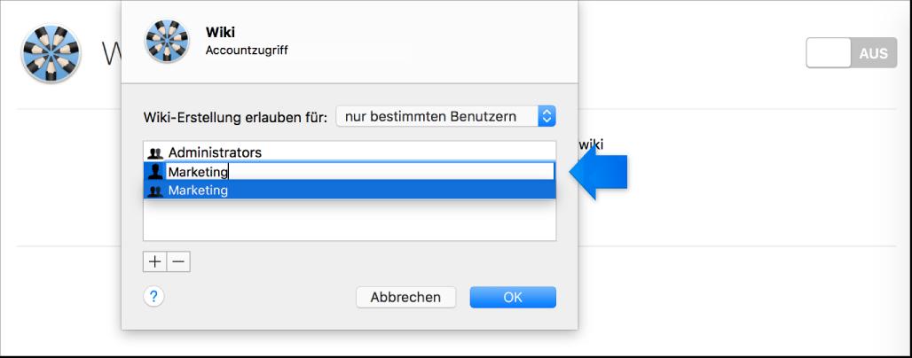 """Menü """"Benutzer oder Gruppen hinzufügen"""""""