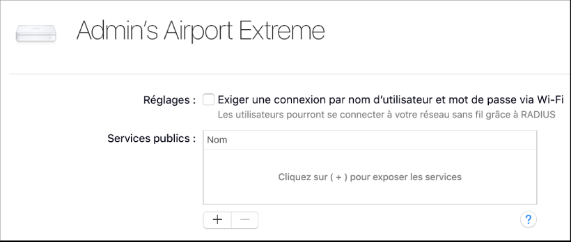 Sélection AirPortExtreme