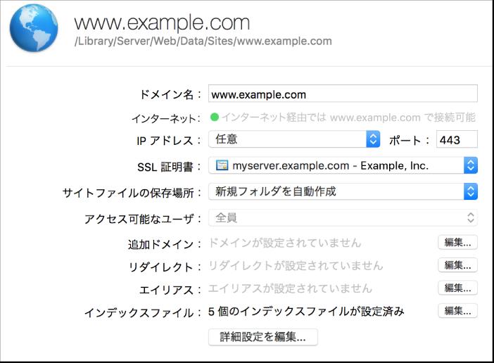 Web サイトの構成シート