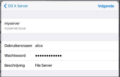 Aanmelden voor iOS WebDAV