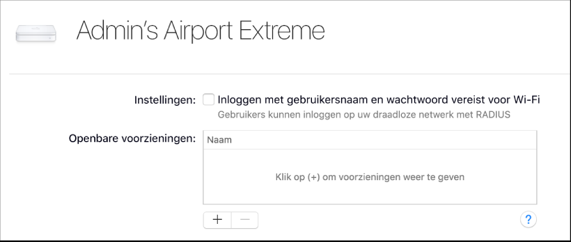 AirPort-basisstation geselecteerd