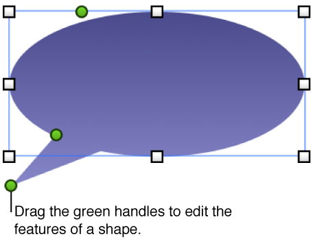 A shape with selection handles