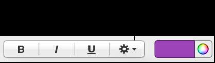 「フォーマット」インスペクタの「詳細オプション」ボタン。