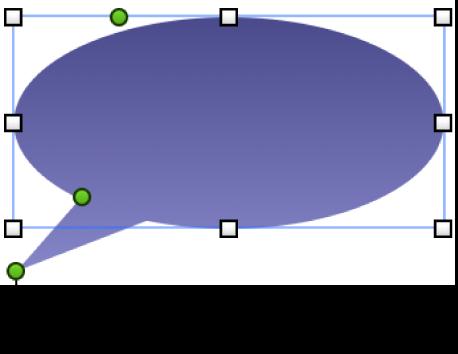 選択ハンドルのある図形