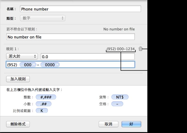 以規則自定數字輸入格格式