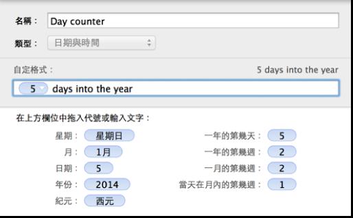 自定日期與時間輸入格格式