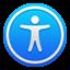 icône Réglages d'accessibilité