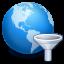 Symbool voor instellingen voor materiaalfilters