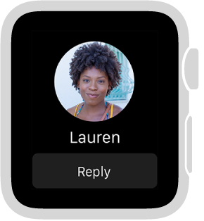 When you receive a sketch, tap, or heartbeat from someone, the notification includes a Reply button near the bottom.