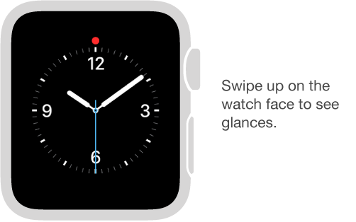 From any watch face, swipe up to see glances.