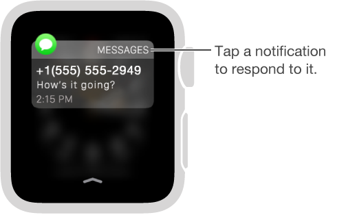 Tap a notification to respond to it.