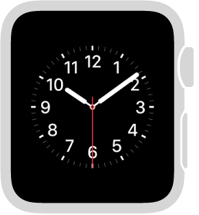 The Utility watch face, where you can adjust the color of the sweep hand and adjust the numbering and detail of the dial. You can also add these features to it: Date, Calendar, Moon phase, Sunrise/sunset, Weather, Activity summary, Alarm, Timer, Stopwatch, Battery charge, World clock, Expanded views of all the preceding features plus Stocks.