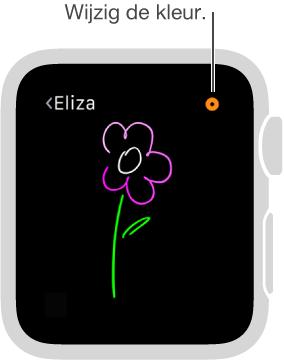 Tik op de kleurknop rechtsboven om de kleur van uw tekeningen te wijzigen.