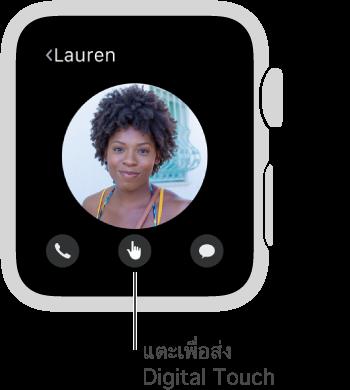 ปุ่ม Digital Touch จะอยู่ตรงกึ่งกลางด้านล่างสุดของหน้าจอ