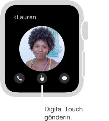 Digital Touch düğmesi ekranın alt ortasındadır.