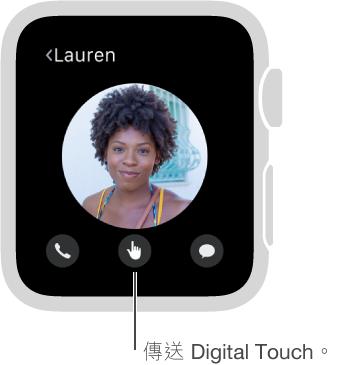 Digital Touch 按鈕位於螢幕底部的中間。