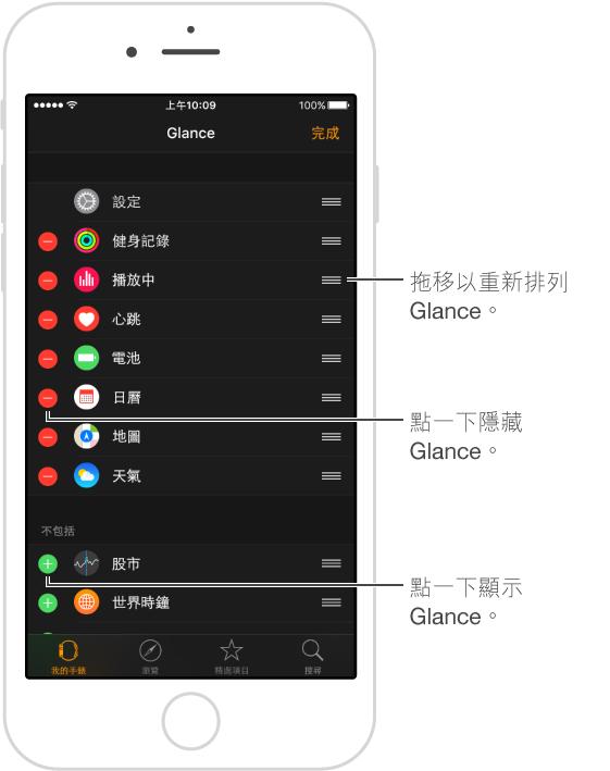 重新排列按鈕位於螢幕的右側邊緣。