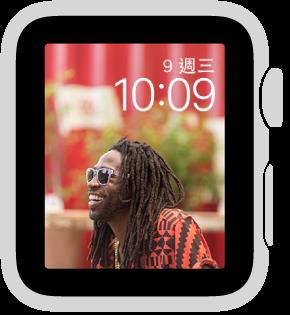 「相簿」錶面會在你每次喚醒 AppleWatch 時顯示已同步相簿中不同的相片。