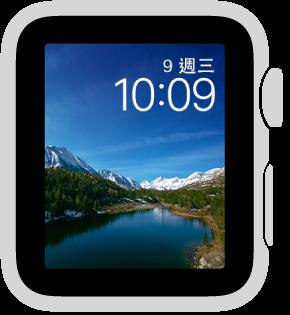 「縮時攝影」錶面顯示一些景點的縮時攝影影片。 可從 5 個地點中選擇。