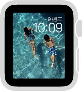 「照片」錶面會顯示您同步的相簿中的照片。