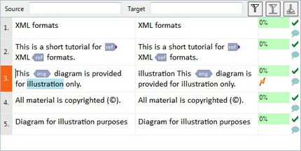 Navigate the translation editor | MemoQ