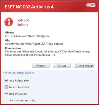 07e08ba860a Nod32 ea antivirus behavior and user interaction 01 Viirusetõrje käitumine  ja kasutaja sekkumine