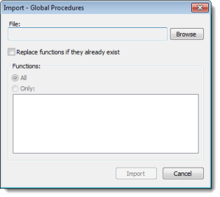 Global Procedures | Web Studio Help