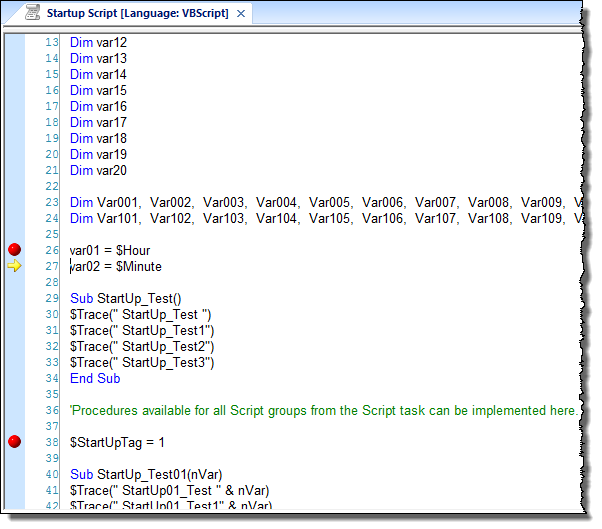 Step through your VBScript code | Web Studio Help