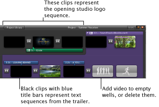 Convert a trailer to a project, iMovie Help