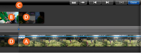 Edit the transition point between clips, iMovie Help