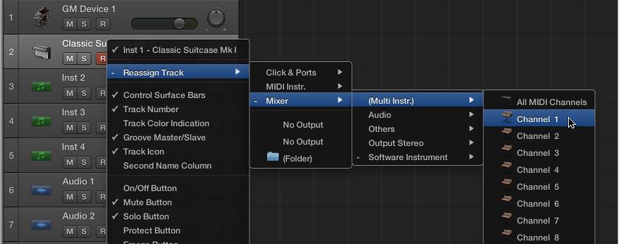 MIDI signal path overview, Logic Pro X Help
