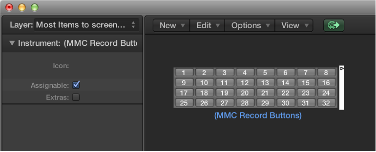 MMC record buttons objects, Logic Pro X Help