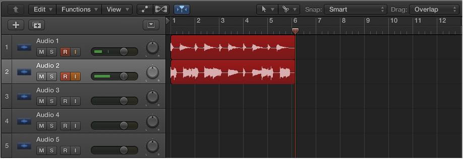 Record to multiple audio tracks, Logic Pro X Help