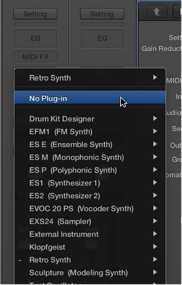 Add, remove, move, and copy plug-ins, Logic Pro X Help