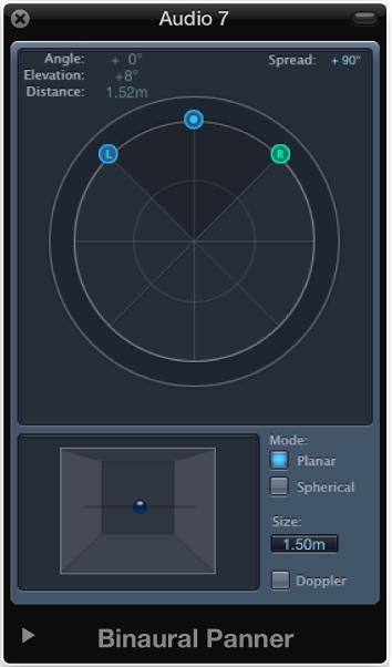 Use the Binaural Panner, Logic Pro X Help