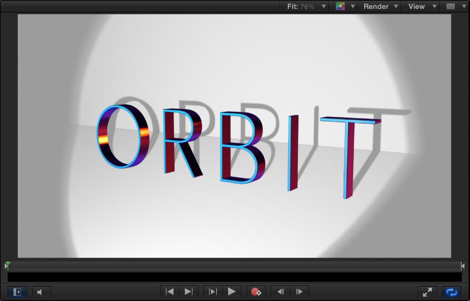 Adjust 3D text lighting, Motion Help