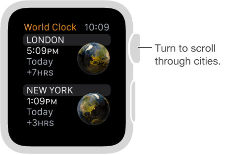 Check the time in other locations, Apple Watch Help