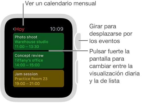 Actualizar Calendario.Consultar Y Actualizar El Calendario Ayuda De Apple Watch